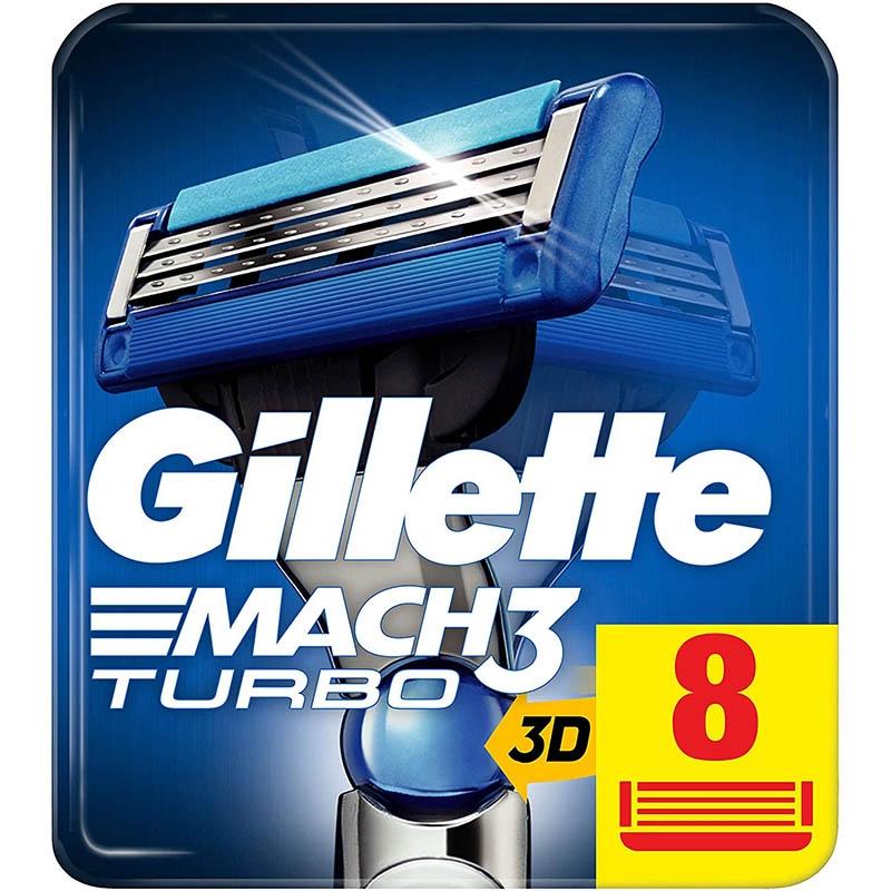Dagaanbieding - Gillette Mach3 Turbo 3D Scheermesjes 8 Stuks dagelijkse aanbiedingen