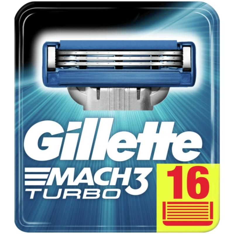 Dagaanbieding - Gillette Mach3 Turbo Scheermesjes 16 Stuks dagelijkse aanbiedingen