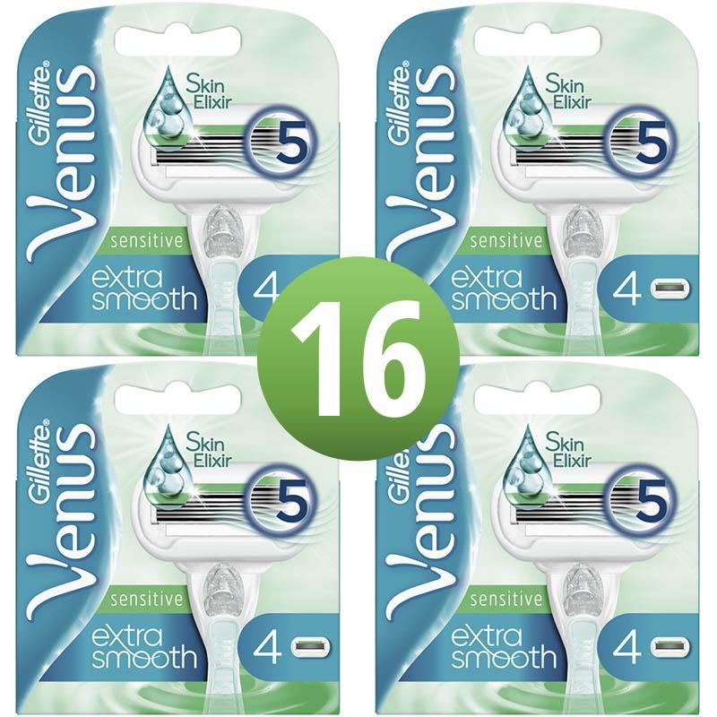 Dagaanbieding - Gillette Venus Extra Smooth Sensitive Scheermesjes 16 Stuks dagelijkse aanbiedingen