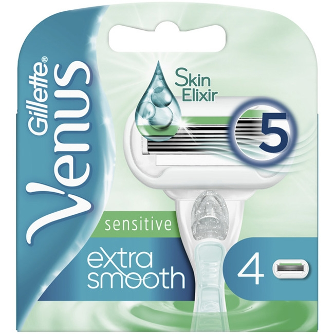 Dagaanbieding - Gillette Venus Extra Smooth Sensitive 4 Mesjes dagelijkse aanbiedingen