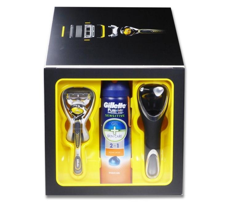 Dagaanbieding - Gillette-Fusion-Proshield-Giftset-incl-Scheergel-+-houder-met-(reis)-etui dagelijkse koopjes