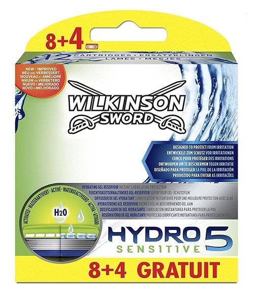 Dagaanbieding - Wilkinson Hydro 5 Sensitive Mesjes 8 + 4 stuks dagelijkse koopjes